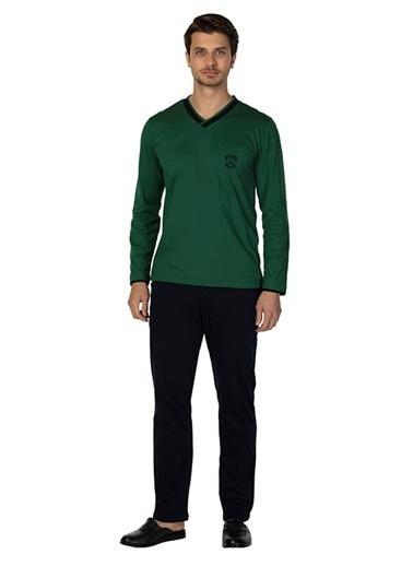 D'S Damat Pijama Takım Yeşil